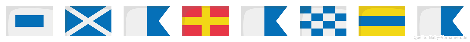 Smaranda im Flaggenalphabet