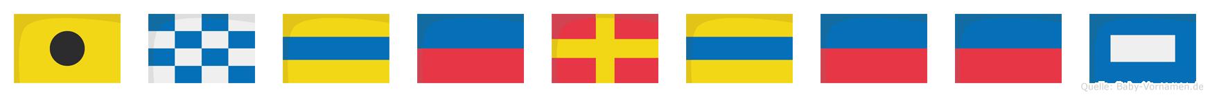 Inderdeep im Flaggenalphabet