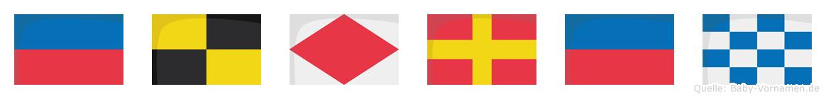 Elfren im Flaggenalphabet