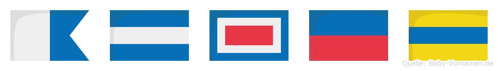 Ajwed im Flaggenalphabet