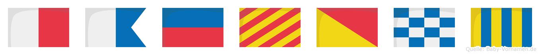 Haeyong im Flaggenalphabet