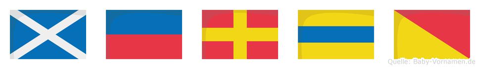 Merdo im Flaggenalphabet