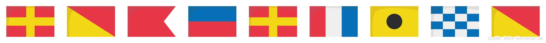 Robertino im Flaggenalphabet