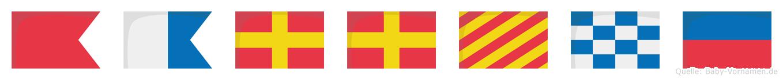 Barryne im Flaggenalphabet