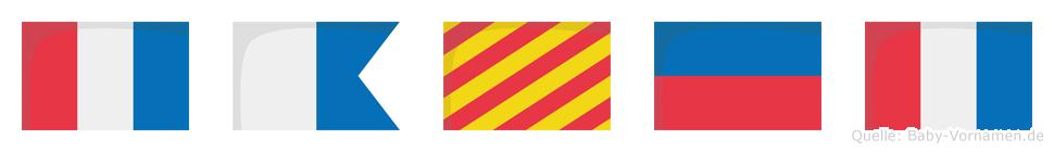 Tayet im Flaggenalphabet