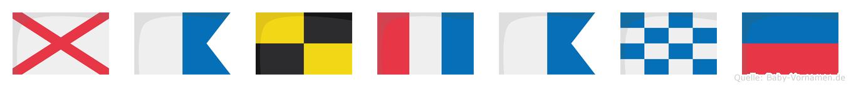 Valtane im Flaggenalphabet
