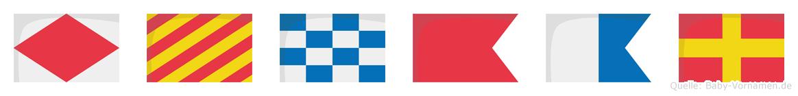 Fynbar im Flaggenalphabet