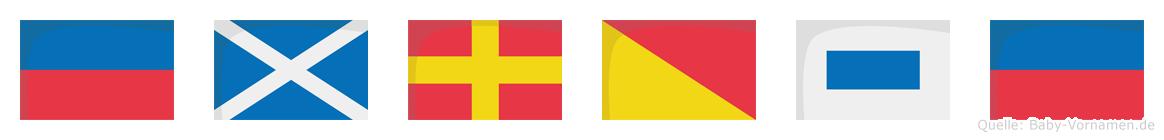 Emrose im Flaggenalphabet