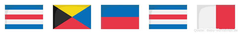 Czech im Flaggenalphabet