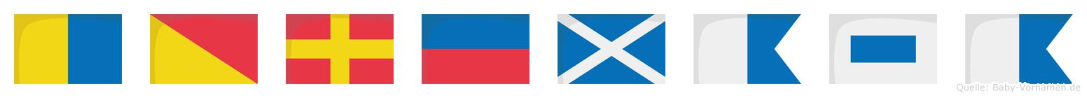 Koremasa im Flaggenalphabet