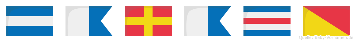 Jaraco im Flaggenalphabet