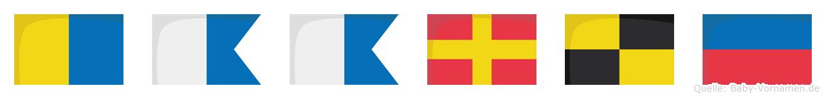 Kaarle im Flaggenalphabet