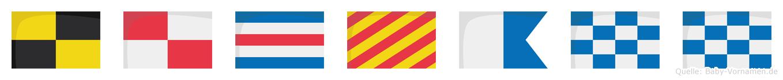 Lucyann im Flaggenalphabet