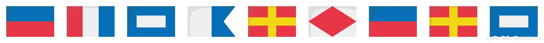 Etparferp im Flaggenalphabet