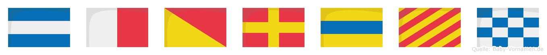 Jhordyn im Flaggenalphabet
