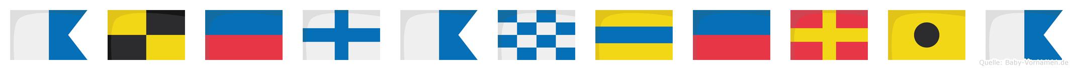Alexanderia im Flaggenalphabet