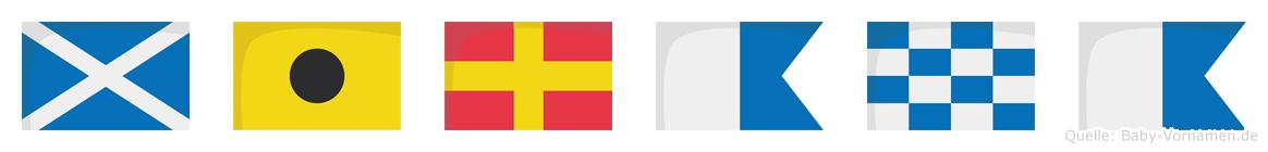 Mirana im Flaggenalphabet