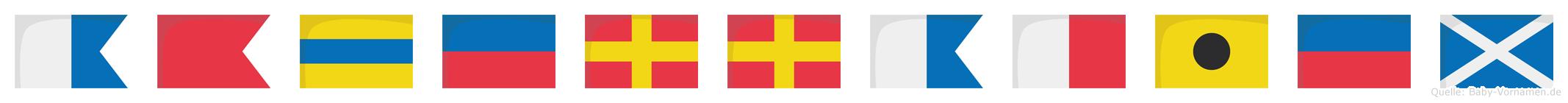 Abderrahiem im Flaggenalphabet