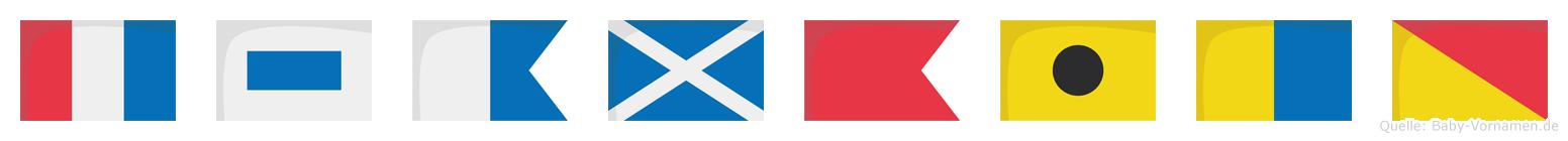 Tsambiko im Flaggenalphabet