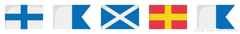 Xamra im Flaggenalphabet