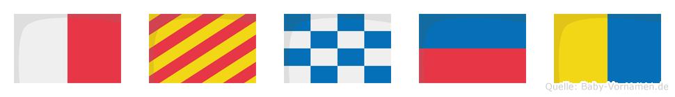 Hynek im Flaggenalphabet