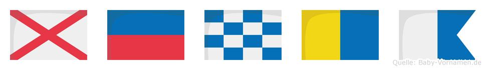 Venka im Flaggenalphabet