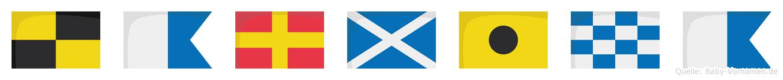 Larmina im Flaggenalphabet