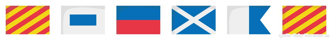 Ysemay im Flaggenalphabet