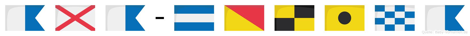 Ava-Jolina im Flaggenalphabet