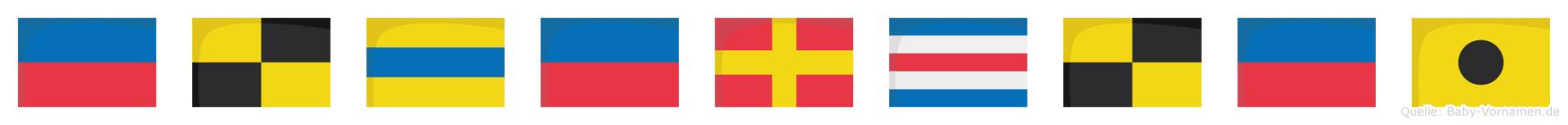 Elderclei im Flaggenalphabet