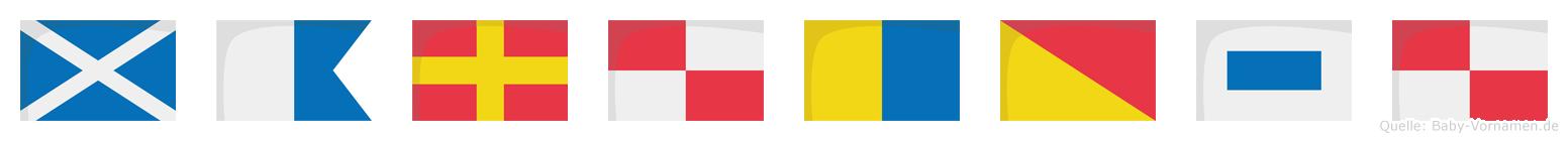 Marukosu im Flaggenalphabet