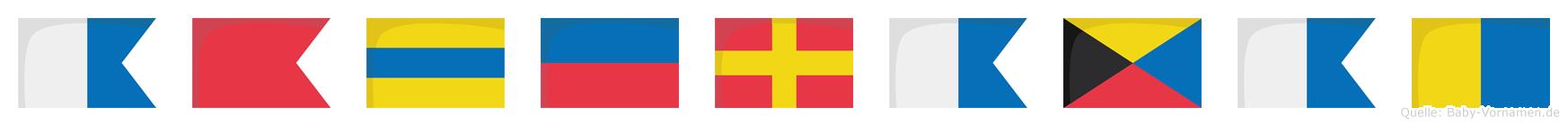 Abderazak im Flaggenalphabet