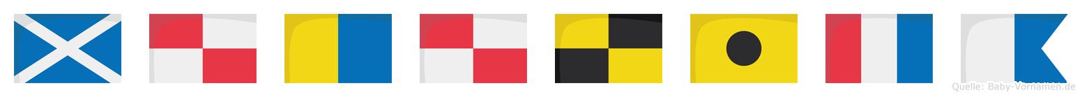 Mukulita im Flaggenalphabet