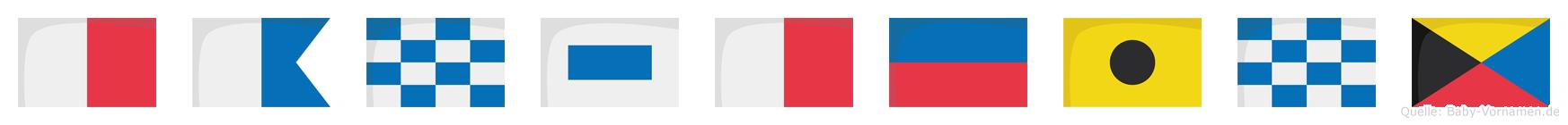 Hansheinz im Flaggenalphabet