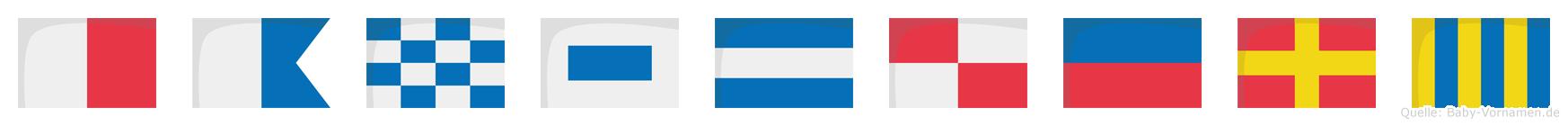 Hansjürg im Flaggenalphabet