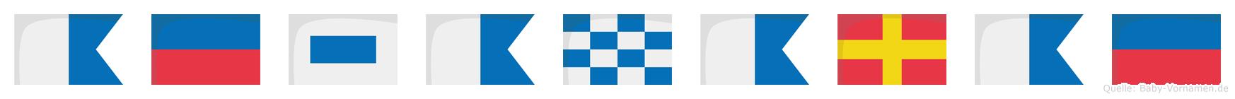 Aesanarae im Flaggenalphabet