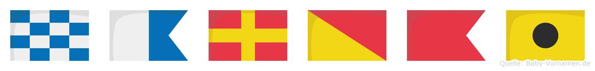 Narobi im Flaggenalphabet