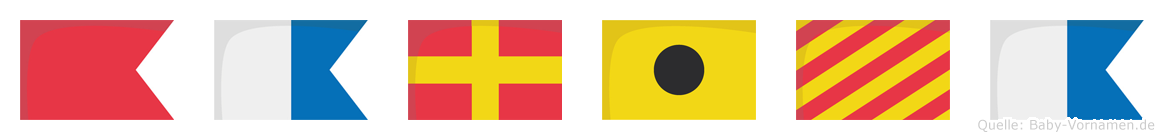 Bariya im Flaggenalphabet