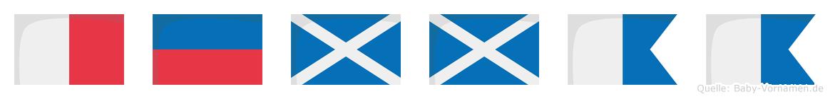 Hemmaa im Flaggenalphabet