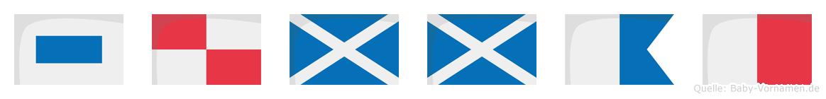 Summah im Flaggenalphabet