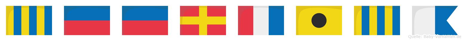 Geertiga im Flaggenalphabet