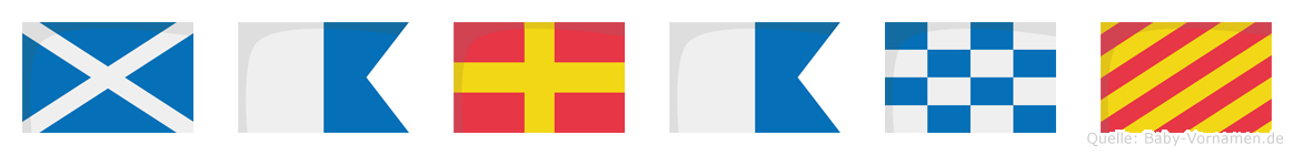 Marany im Flaggenalphabet