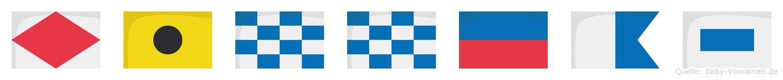 Finneas im Flaggenalphabet