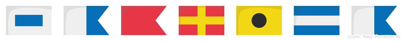 Sabrija im Flaggenalphabet