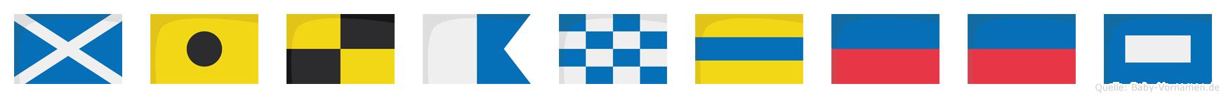 Milandeep im Flaggenalphabet