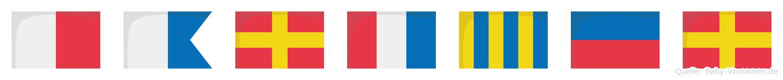 Hartger im Flaggenalphabet