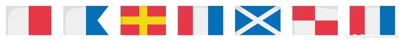 Hartmut im Flaggenalphabet