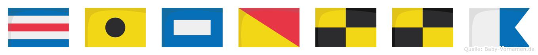 Cipolla im Flaggenalphabet