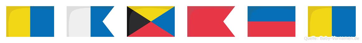 Kazbek im Flaggenalphabet