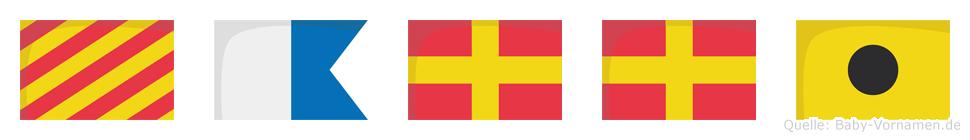 Yarri im Flaggenalphabet